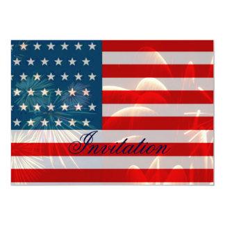Dia da Independência, o 4 de julho, Celebration_ Convite 12.7 X 17.78cm
