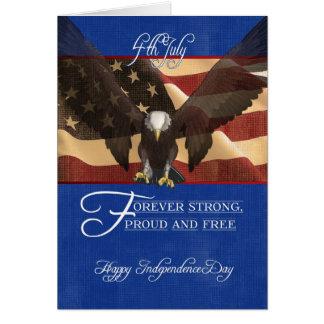 Dia da Independência, o quarto de julho, o 4 de Cartão Comemorativo