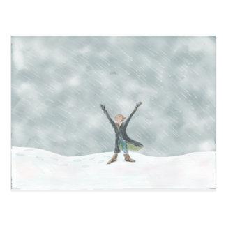 Dia da neve!! cartão postal