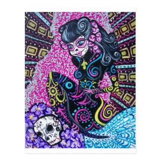Dia da sereia retro inoperante cartão postal