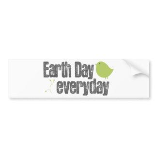 Dia da Terra cada dia! autocolantes para automóveis