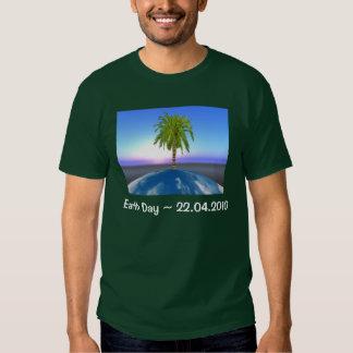 Dia da Terra - camisa escura de T Tshirt