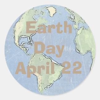 Dia da Terra o 22 de abril, etiquetas do porte