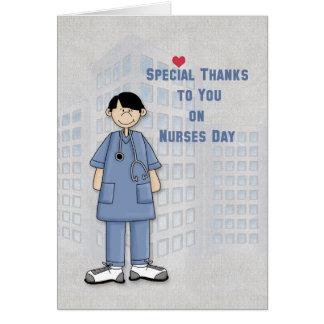 Dia das enfermeiras, enfermeira masculina, cartão