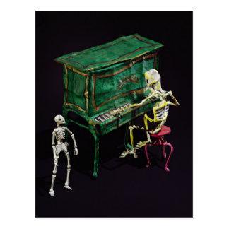 Dia das figuras do morto como músicos cartão postal