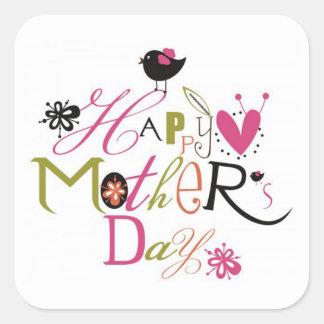 Dia das mães adesivo quadrado
