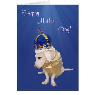 Dia das mães bonito customizável do cão cartões