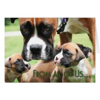 Dia das mães - dtodos nós filhotes de cachorro do cartão comemorativo