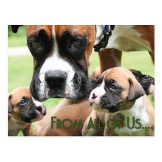 Dia das mães - dtodos nós filhotes de cachorro do cartão postal