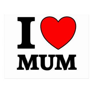Dia das mães eu amo a mãe cartão postal