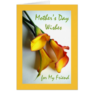 Dia das mães para o amigo, lírios de Calla Cartão