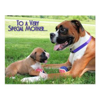 Dia das mães - pugilista das mamães - Vindy Cartão Postal