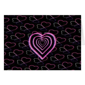 DIA DE OS NAMORADOS cor-de-rosa dos corações do Cartões