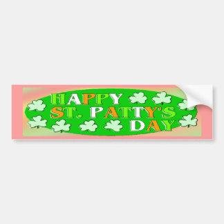 Dia de São Patrício feliz Adesivo