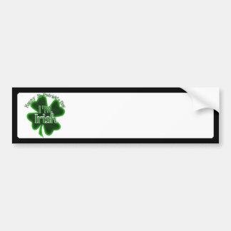 Dia de São Patrício feliz - eu sou irlandês Adesivo