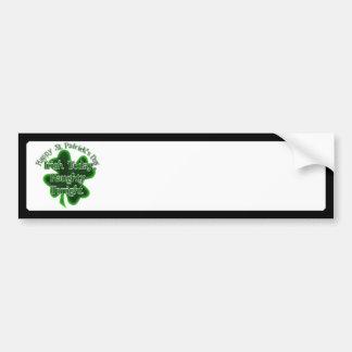 Dia de São Patrício - irlandês hoje, impertinente  Adesivo