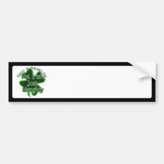 Dia de São Patrício - nao irlandês, apenas imperti Adesivos