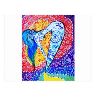 Dia do arco-íris da sereia inoperante cartão postal