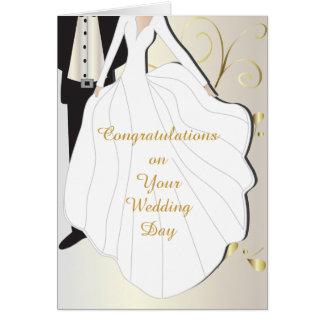 Dia do casamento bonito cartão comemorativo
