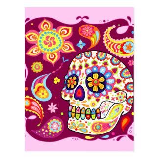 Dia do crânio do açúcar do cartão inoperante cartão postal