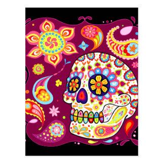 Dia do crânio do açúcar do cartão inoperante cartoes postais