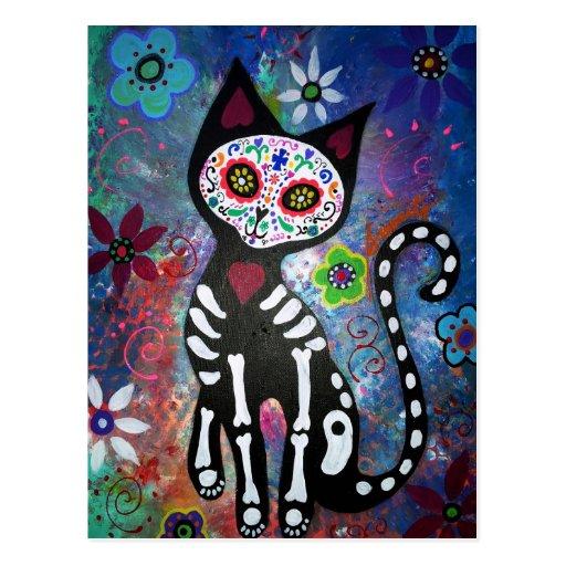 Dia do gato inoperante por Prisarts Cartões Postais