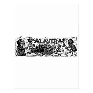 """Dia do morto. """"Calaveras"""" C. México 1951 Cartão Postal"""