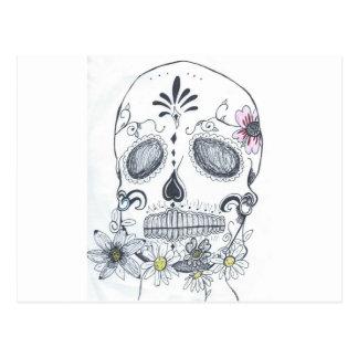 Dia do morto cartão postal