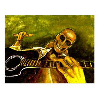 dia do morto/diâmetro de los muertos cartão postal