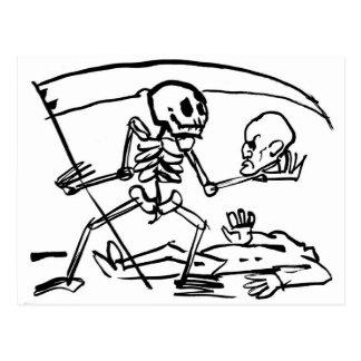 Dia do morto, México. Cerca de 1951. Cartão Postal