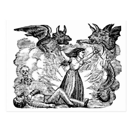 Dia do morto, México cerca dos lates 1800's Cartao Postal