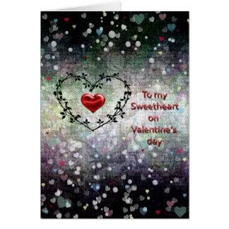 Dia dos namorados - amor - corações cartão