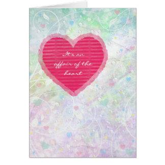 Dia dos namorados - amor - corações cartão comemorativo