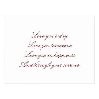 Dia dos namorados cartão-romântico cartão postal