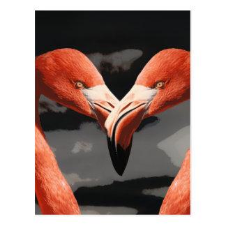 Dia dos namorados cor-de-rosa da forma do coração cartão postal