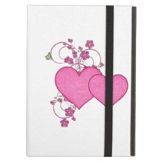 Dia dos namorados cor-de-rosa dobro do coração & d