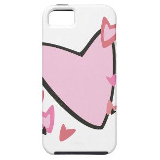 Dia dos namorados cor-de-rosa dos corações capa tough para iPhone 5