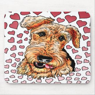 Dia dos namorados cor-de-rosa dos corações de Aire Mouse Pad