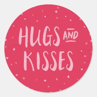 Dia dos namorados cor-de-rosa dos corações | dos adesivo
