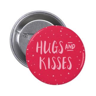 Dia dos namorados cor-de-rosa dos corações | dos bóton redondo 5.08cm