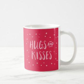 Dia dos namorados cor-de-rosa dos corações | dos caneca
