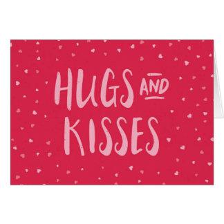 Dia dos namorados cor-de-rosa dos corações | dos cartão comemorativo