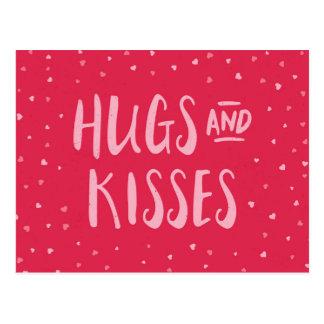 Dia dos namorados cor-de-rosa dos corações | dos cartão postal