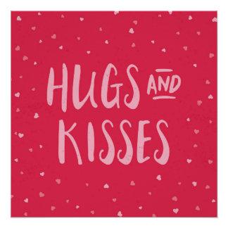 Dia dos namorados cor-de-rosa dos corações | dos poster perfeito
