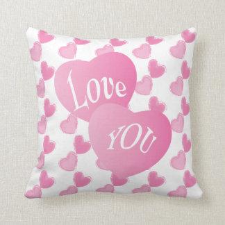 Dia dos namorados cor-de-rosa dos corações eu te almofada