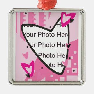 Dia dos namorados cor-de-rosa dos corações enfeite para arvore de natal