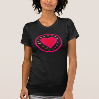 Dia dos namorados - coração cor-de-rosa moderno - camisetas