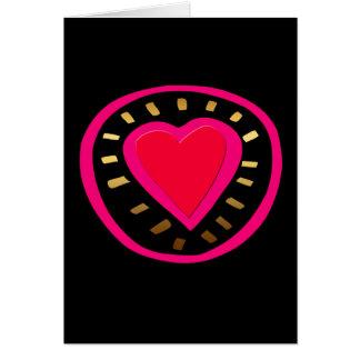 Dia dos namorados - coração cor-de-rosa moderno - cartão comemorativo
