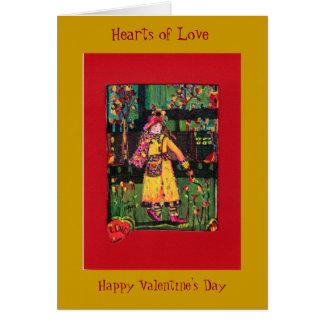 Dia dos namorados….Corações do amor Cartão De Nota