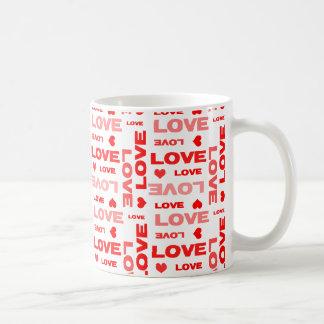 Dia dos namorados dos corações do amor caneca de café